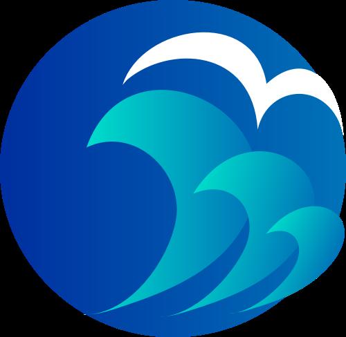 蓝色海浪矢量logo图标