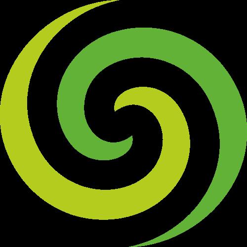 绿色旋涡矢量logo图标