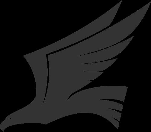 黑色老鹰矢量logo图标矢量logo