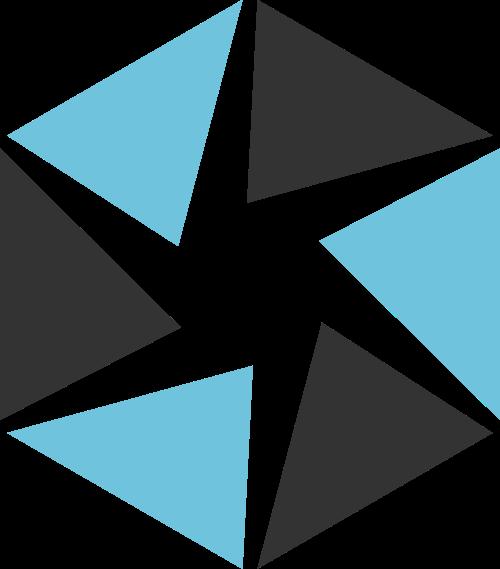蓝色黑色相机摄影矢量logo图标