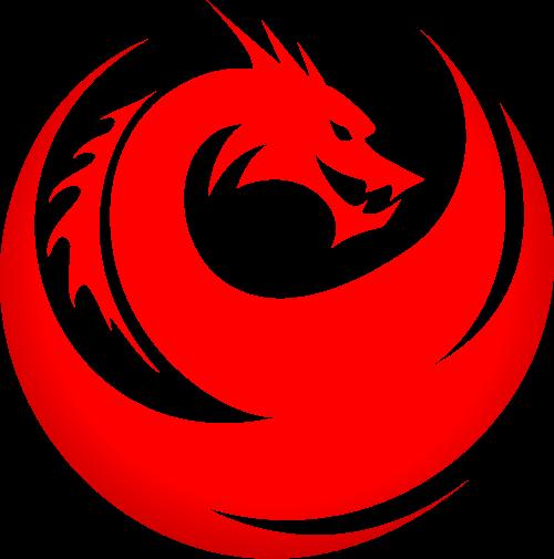 红色龙矢量logo元素