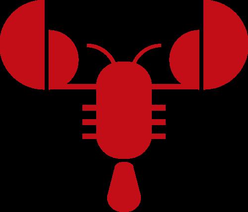 红色龙虾矢量logo元素矢量logo