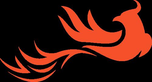 橙色凤凰火烈鸟矢量logo