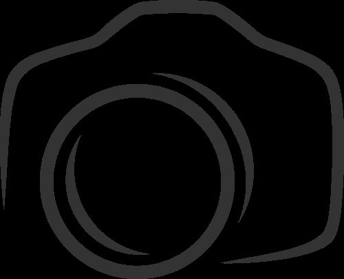 黑色相机矢量logo图标