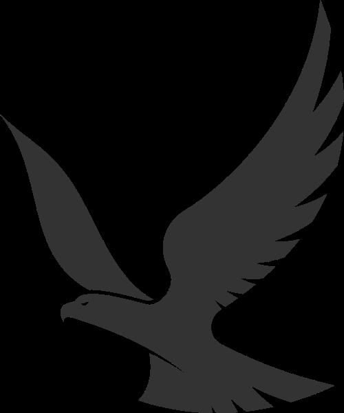 黑色老鹰矢量logo图标