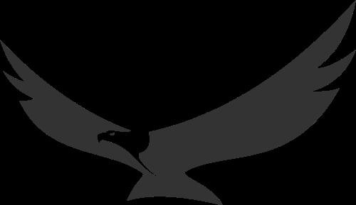黑色老鹰矢量logo