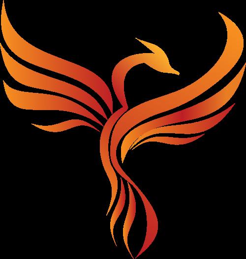 橙色凤凰矢量logo