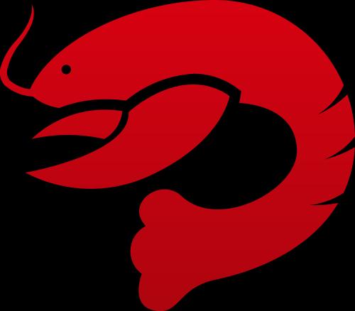 红色龙虾矢量logo矢量logo