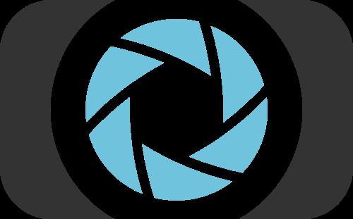 蓝色黑色相机矢量logo