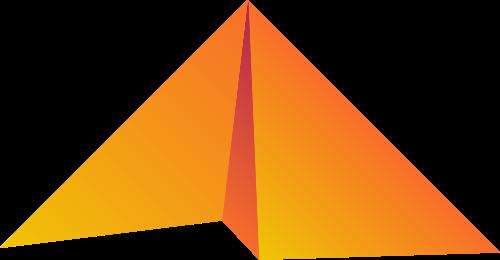 黄色折纸矢量logo图标