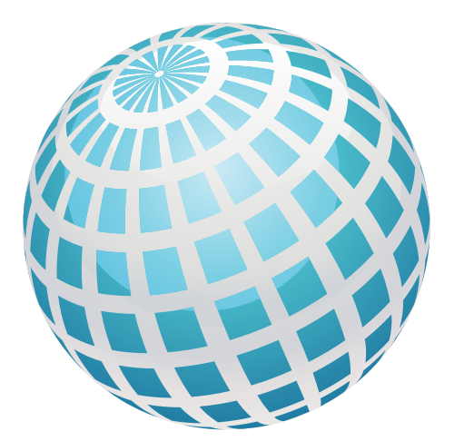 蓝色球体立体矢量logo