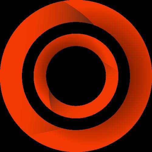 红色圆环立体矢量logo