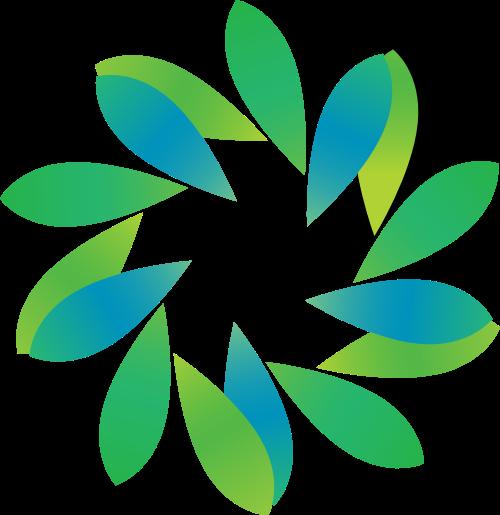 绿色花朵矢量logo