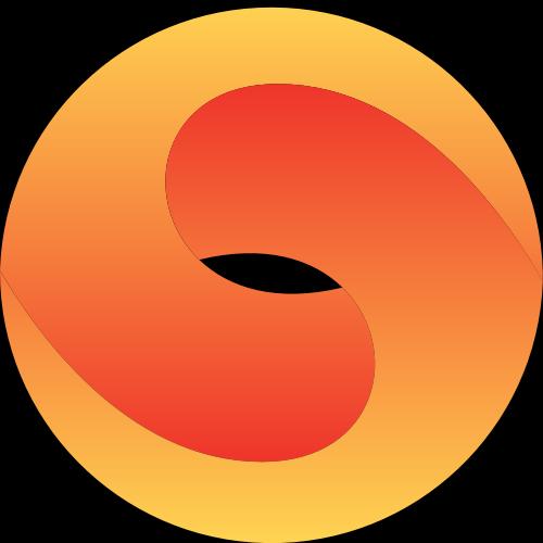 黄色圆形立体矢量logo