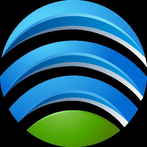 蓝色绿色球体矢量logo图标