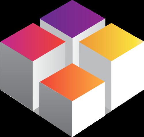 彩色方块矢量logo图标