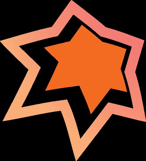 橙色六角形矢量logo图标