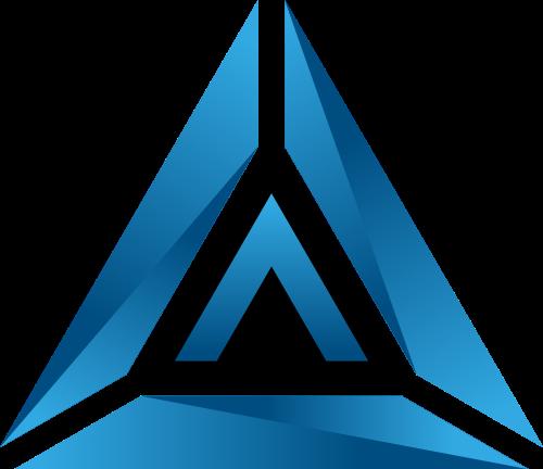 蓝色立体三角矢量logo矢量logo