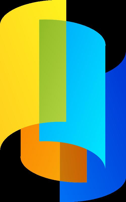 彩色立体矢量logo图标