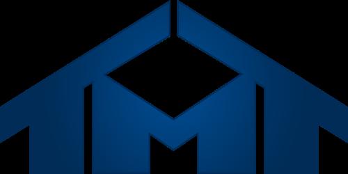 蓝色房子字母M矢量logo