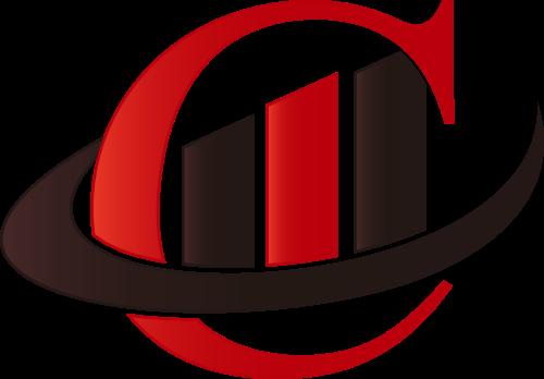 红色黑色商务贸易矢量logo