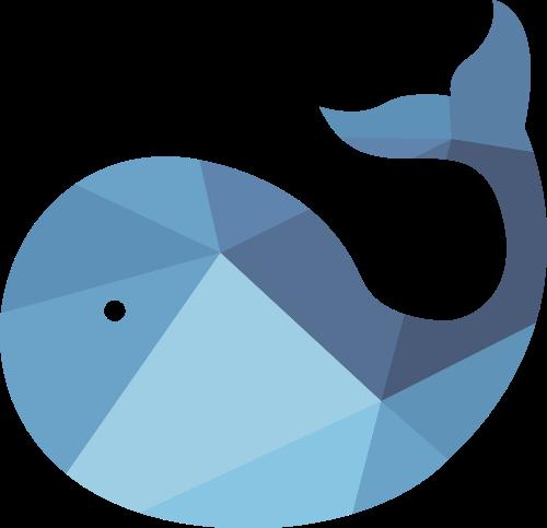 蓝色鲸鱼矢量logo图标