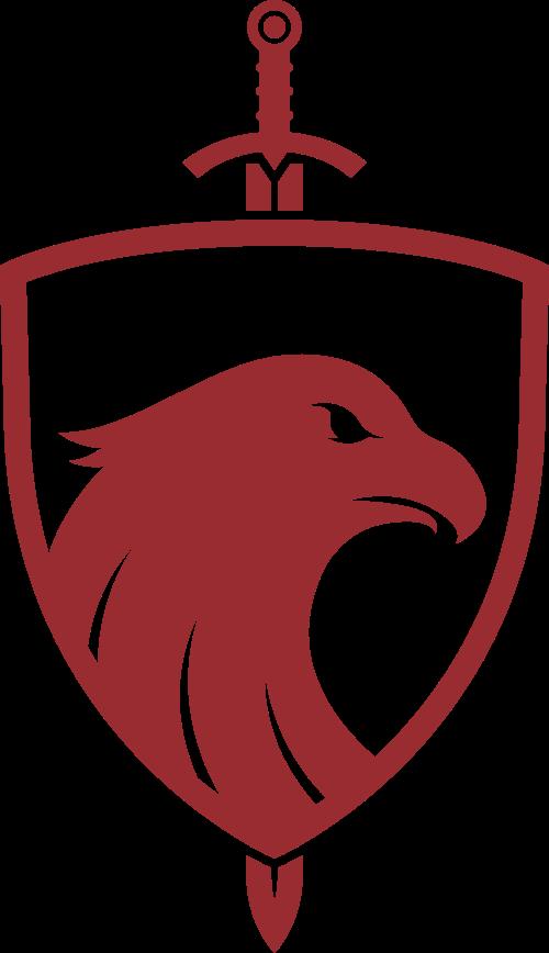红色鹰盾牌矢量logo
