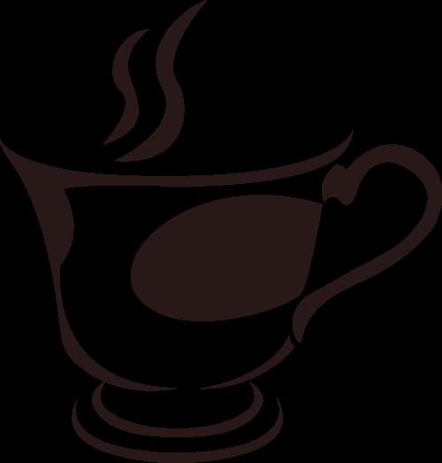 棕色咖啡矢量logo