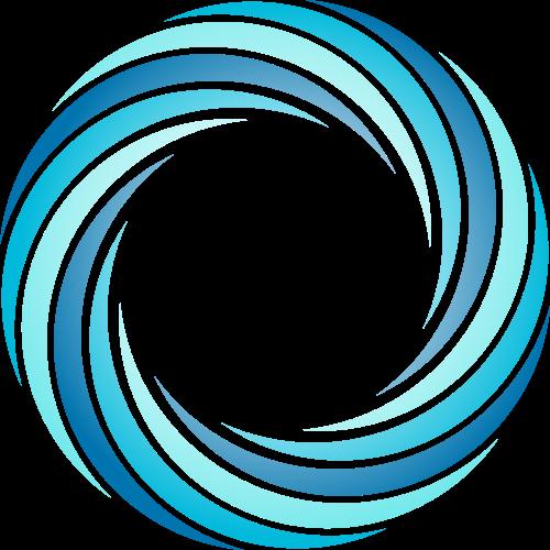 蓝色圆环矢量logo元素