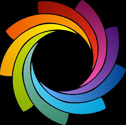 彩色圆环矢量logo