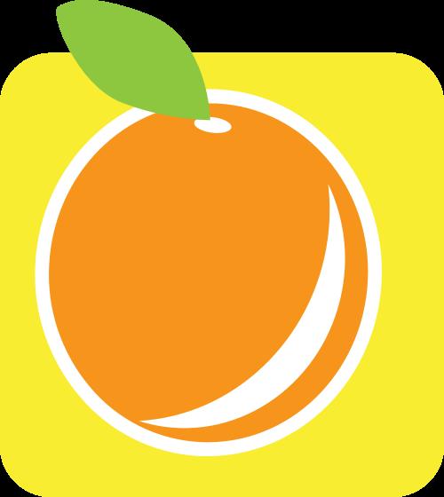 黄色橙子矢量logo