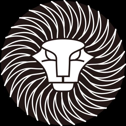 黑色狮子头矢量logo图标
