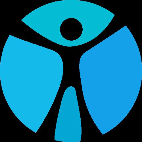 蓝色人物矢量logo图标