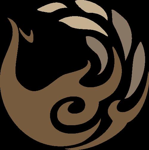 棕色鸟凤凰矢量logo图标
