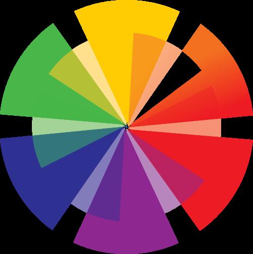 彩色摄影矢量logo元素
