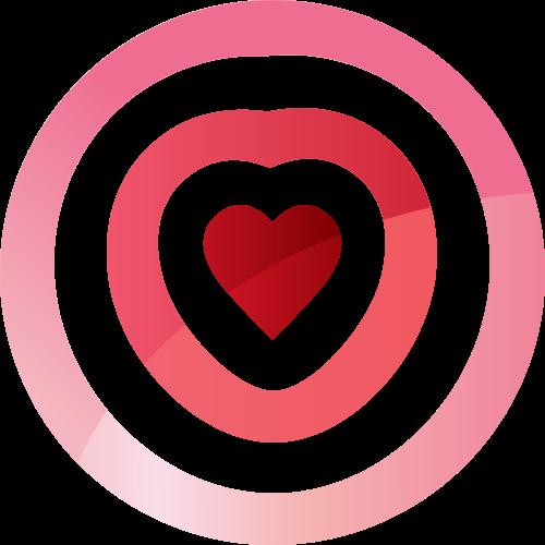 粉色心形矢量logo元素