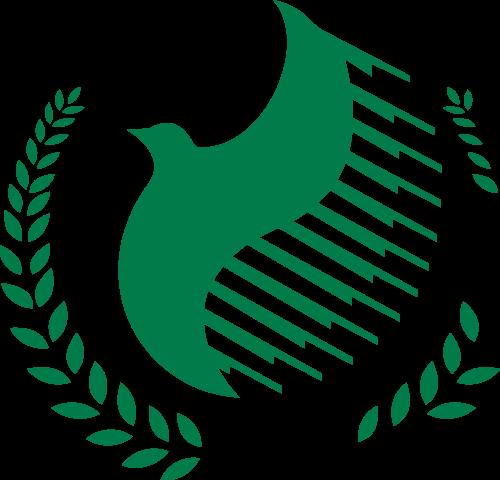 绿色鸟矢量logo图标
