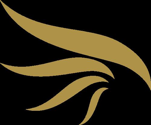 金色翅膀矢量logo图标