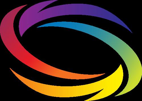 彩色美术矢量logo