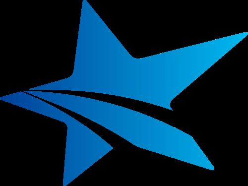 蓝色星星矢量logo