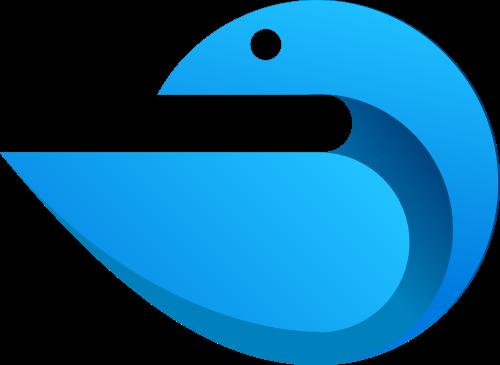 蓝色教育矢量logo