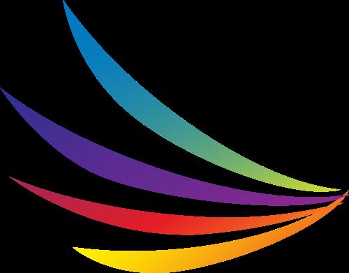 彩色翅膀矢量logo图标