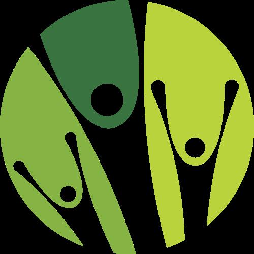 绿色圆形人物矢量logo图标