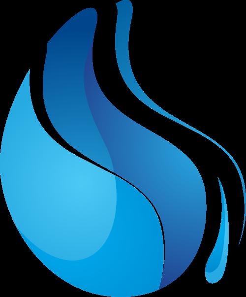 蓝色水滴矢量logo元素