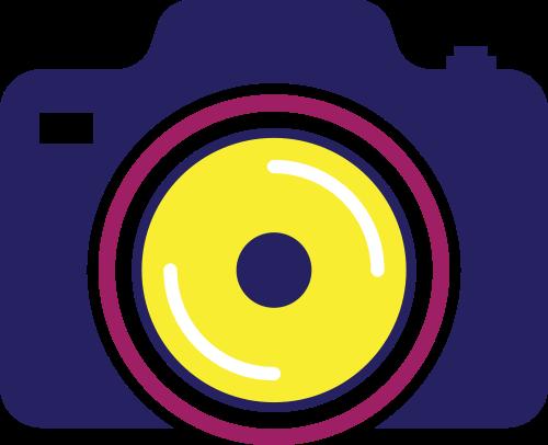 彩色相机矢量logo