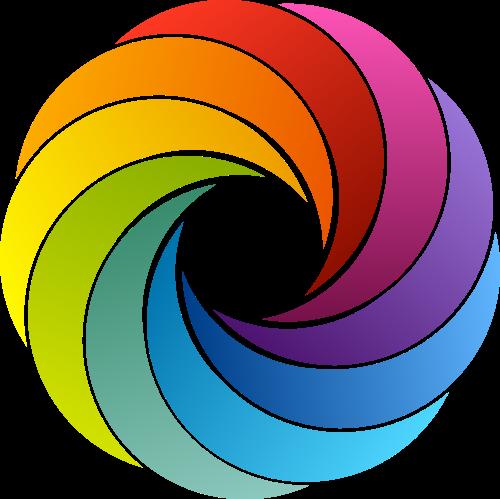 彩色美术摄影矢量logo