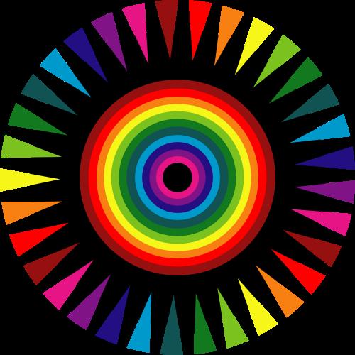 彩色摄影矢量logo图标