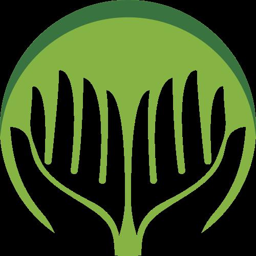 绿色圆形手矢量logo元素