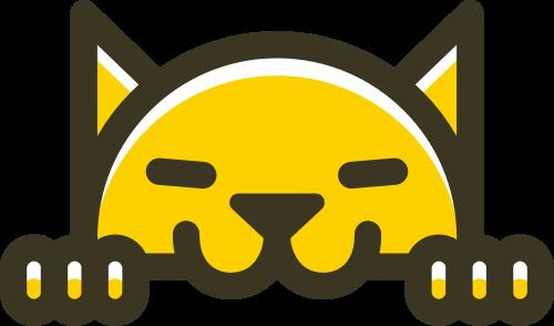 黄色猫矢量logo