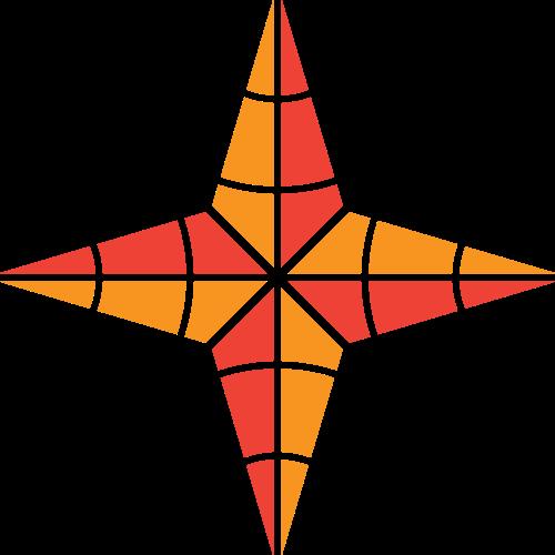 橙红色锥形矢量logo图标